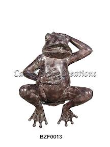 Bronze, Fountain, Frog, Statue