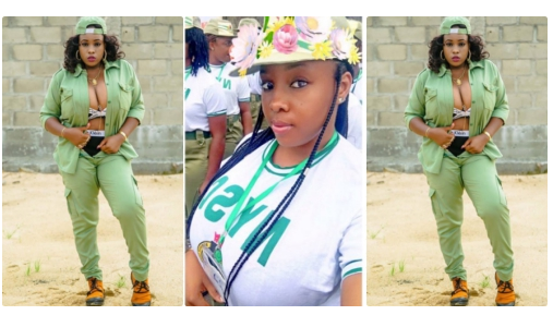 Corps Member Breaks the Internet as She Shows off Her B00bs While Wearing the NYSC Uniform (Photos)