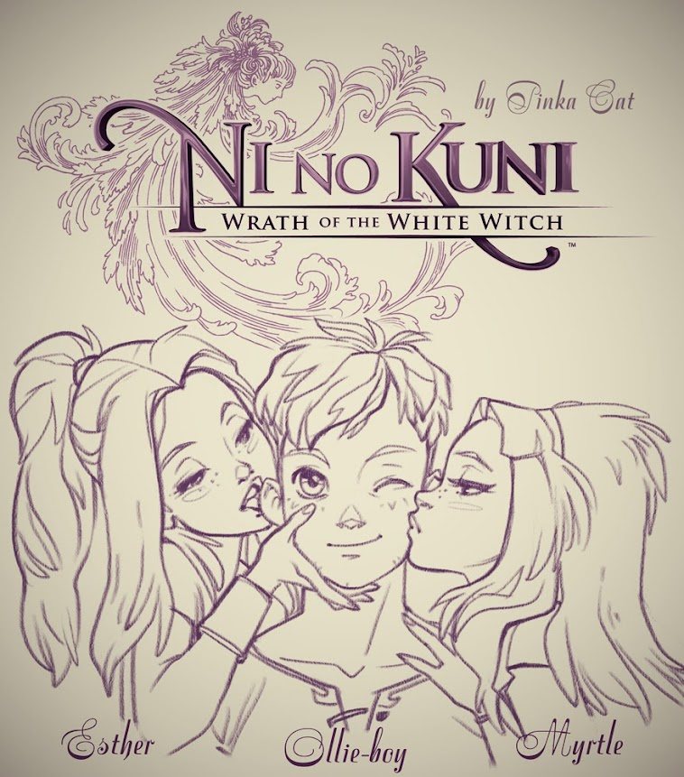 Ni no Kuni - Wrath of the White witch. Game characters fanart by Pinka