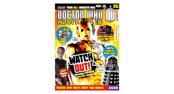 Doctor Who Adventures magazine, sample edition, bursting with monster fun