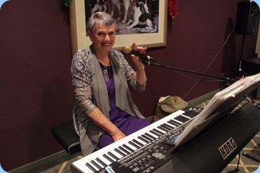 Jeanette Harding finished the evening for us playing her Korg Pa3X. Photo courtesy of Dennis Lyons.