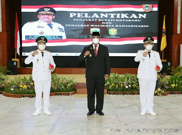 Safrizal Lantik Dua Penjabat Kepala Daerah
