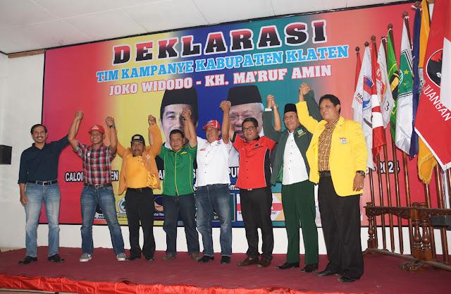 Target 70 Persen Suara Warnai Deklarasi Tim Kampanye Pemenangan Pasangan Jokowi -Ma'ruf Amin
