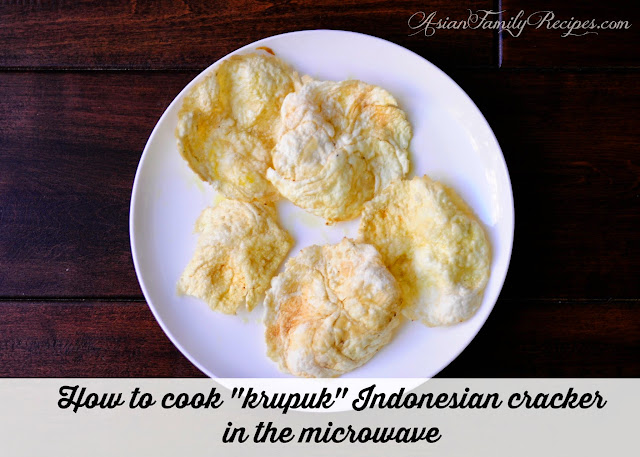 How to cook krupuk in microwave