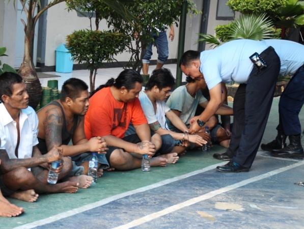 13 Napi Tampang seram dari Kerobokan Bali dipindahkan ke lapas IIB Ngawi