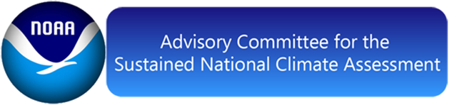 Logo for NOAA's  Advisory Committee for the sustained National Climate Assessment. On 19 August 2017, The Trump administration announced that it had decided to disband the federal advisory panel for the National Climate Assessment. Graphic: NOAA