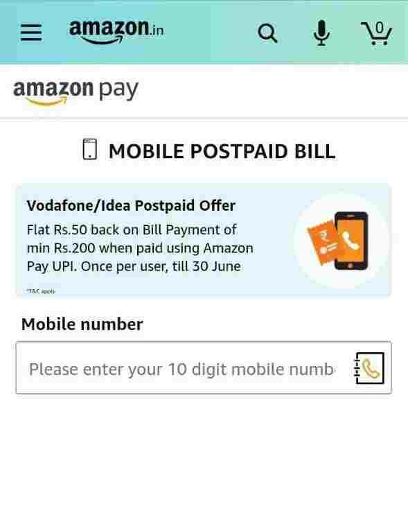 Vodafone /Idea Postpaid Offer For All Amazon User