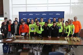 Paul and Sabine and the Triathlon Team and Marathon Teams
