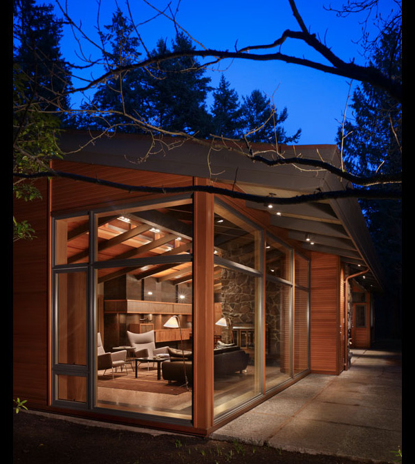 Woodhouse in lake forest park by finne architects conly for Wood house architecture