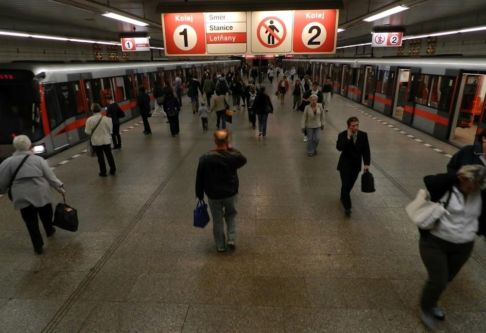 the busy Haje Metro station