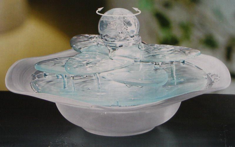 tisch zimmerbrunnen glasbrunnen bl ttertraum glas. Black Bedroom Furniture Sets. Home Design Ideas