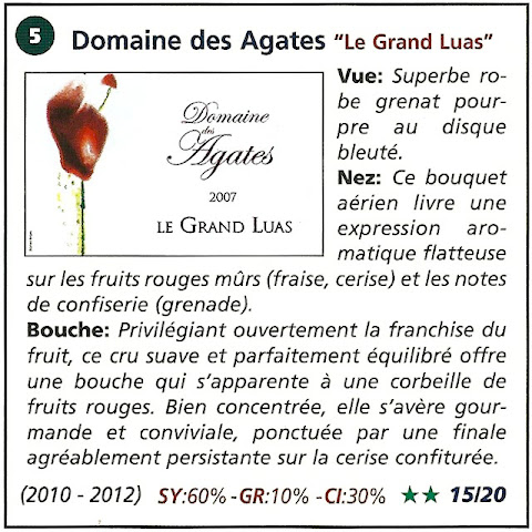 Domaine des Agates - le grand luas 2007