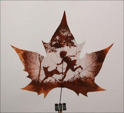 انقش صــورة تحــب الشجــر.. غاية الروعة leaf_painting_art_12