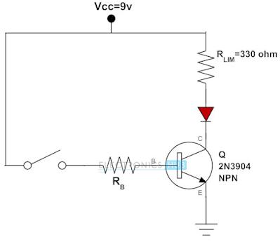 Transistor untuk mengatur LED