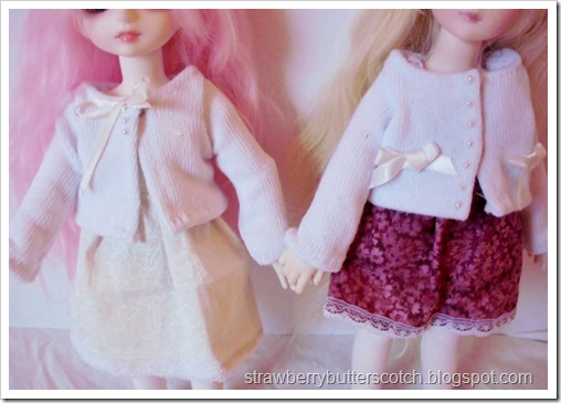 Doll sweaters made from socks.