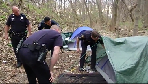 Image result for police search tent homeless