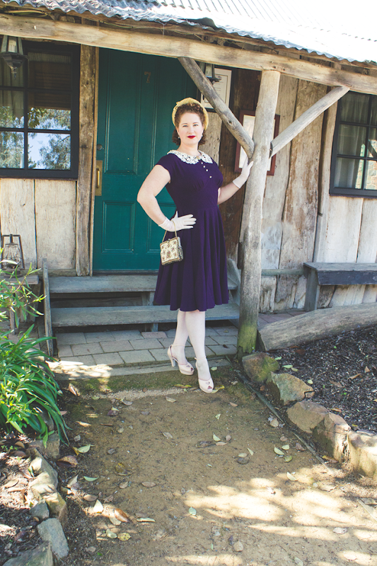 1940's inspired spring style | Lavender & Twill