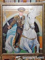 Портрет цветной, выполнен маслом на холсте, размер 100Х120 см