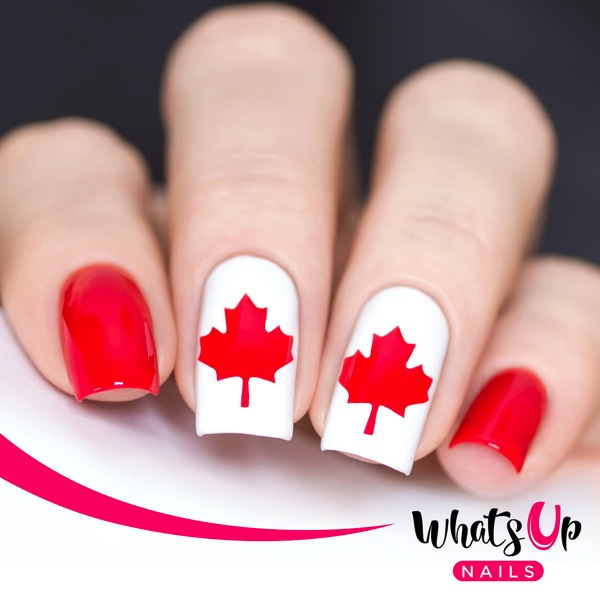 Writing Beauty: Canada Day Nail Art + FREE Nail Vinyls for YOU!