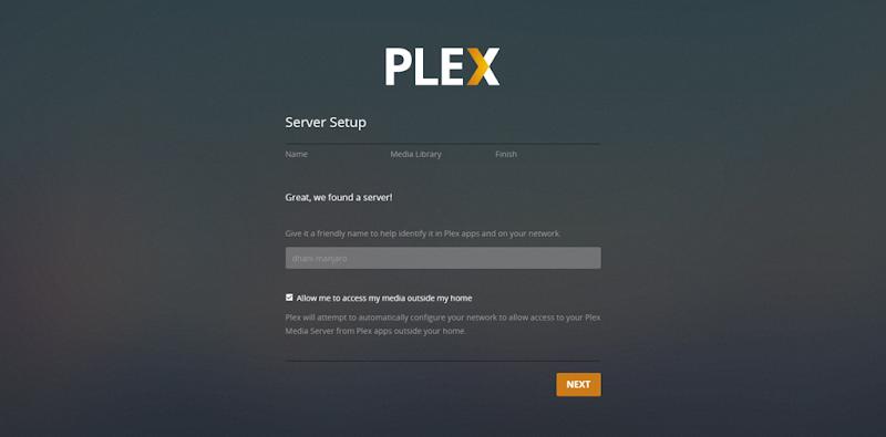 plex server setup