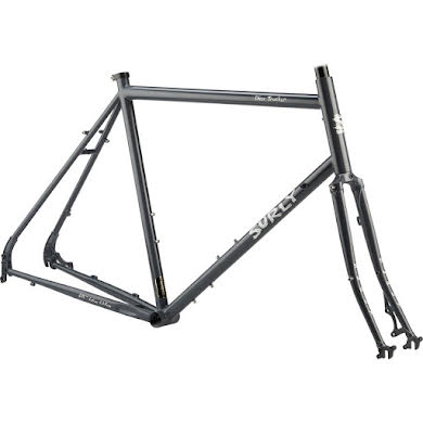 "Surly Disc Trucker 26"" Frameset Bituminous Gray or Hi-Vis Black Thumb"