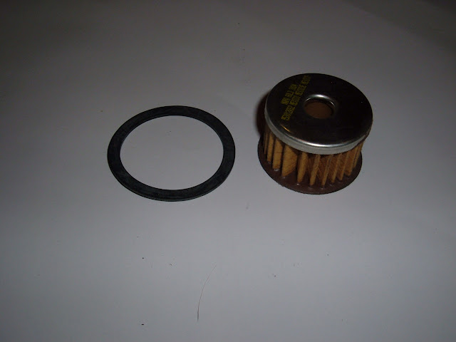 Fuel filter, fits inside AC glass bowl types. 7.75