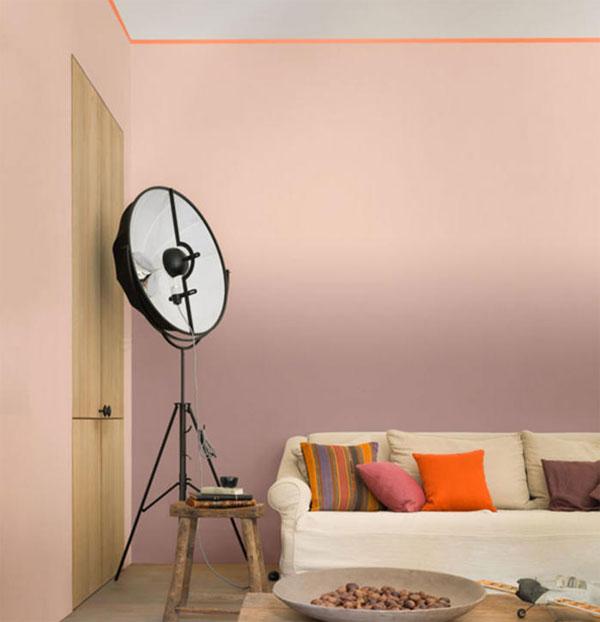 Decorar pintando con rosa y naranja