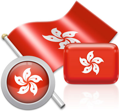 Hong Kong flag icons pictures collection