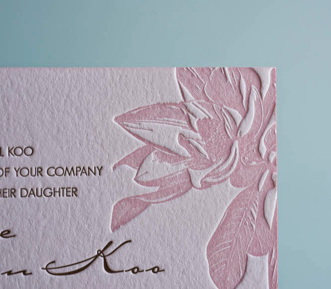 letterpress wedding