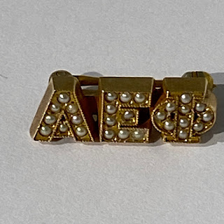 10K Gold Sorority Pin