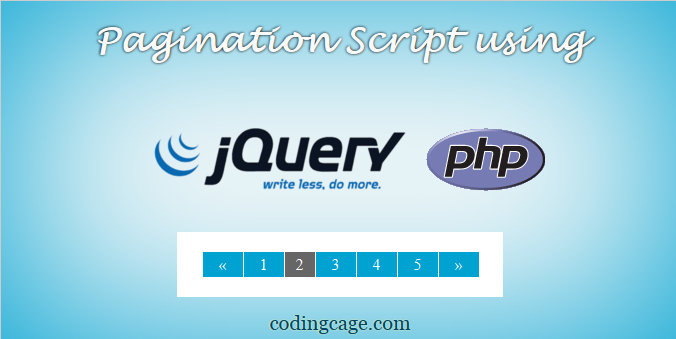 Creating a Simple Pagination Script using PHP PDO with jQuery