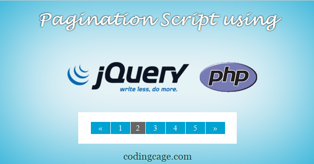 Creating a Simple Pagination Script using PHP PDO with