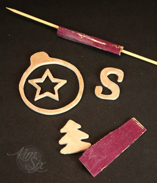 Sanding wooden ornaments