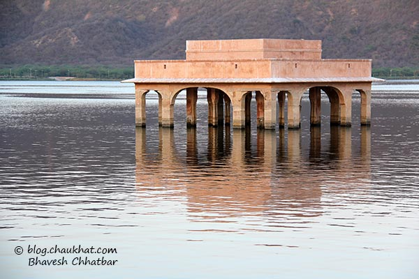 A pink monument near Jal Mahal of Jaipur