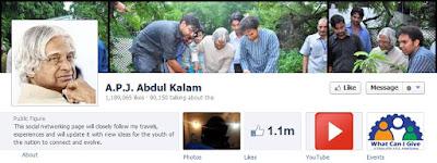 """Abdul Kalam facebook page"""