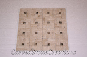 Flooring, Flooring & Mosaics, Interior, Mosaic, Natural, Pinwheel, Stone, Tile, Travertine
