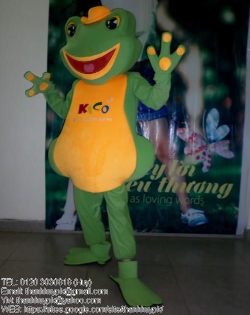 may thsu rối con éch, bán mascot con ếch