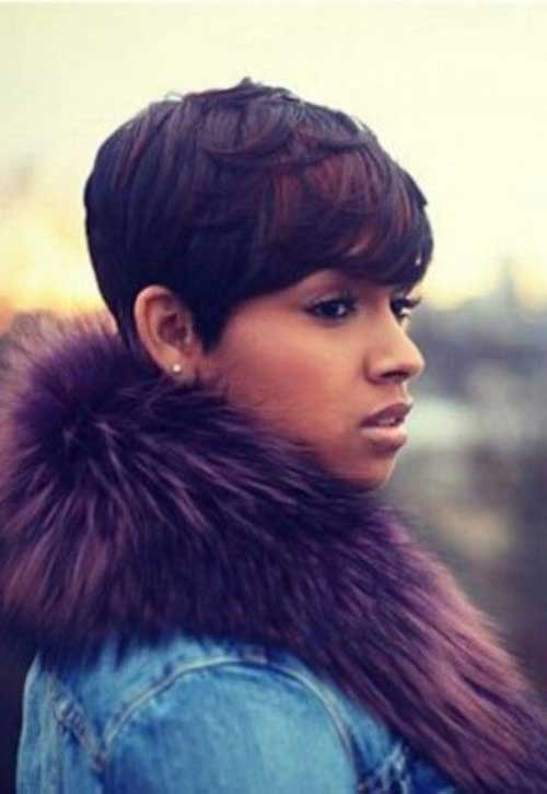 Nice Black Women With Long Pixie Style Fashion Qe