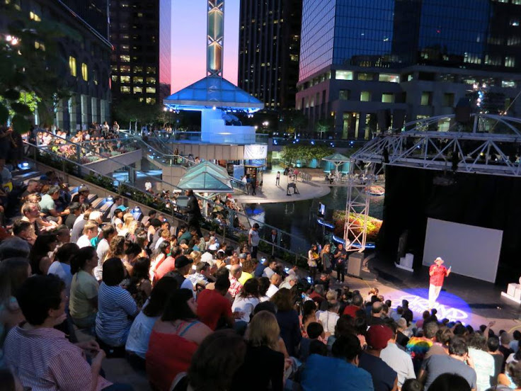 A nighttime show at Grand Performances.