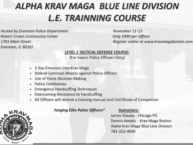 Blueline Krav Maga Certification Course At Evanston Il Pd