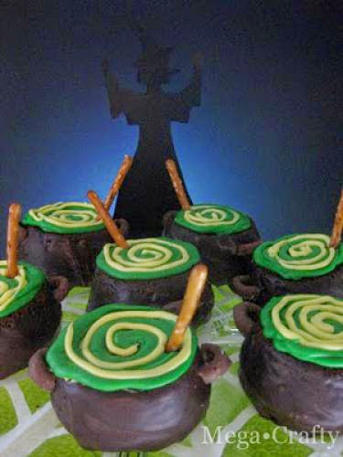 Cupkins Cauldron Cupcakes And Halloween Link Party