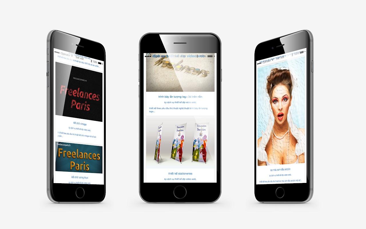 conception site web adaptatif capture écran pour tablettes smartphones sublimer présentation responsive web design iPhone 6 plus // paris +33 6 8528 9977