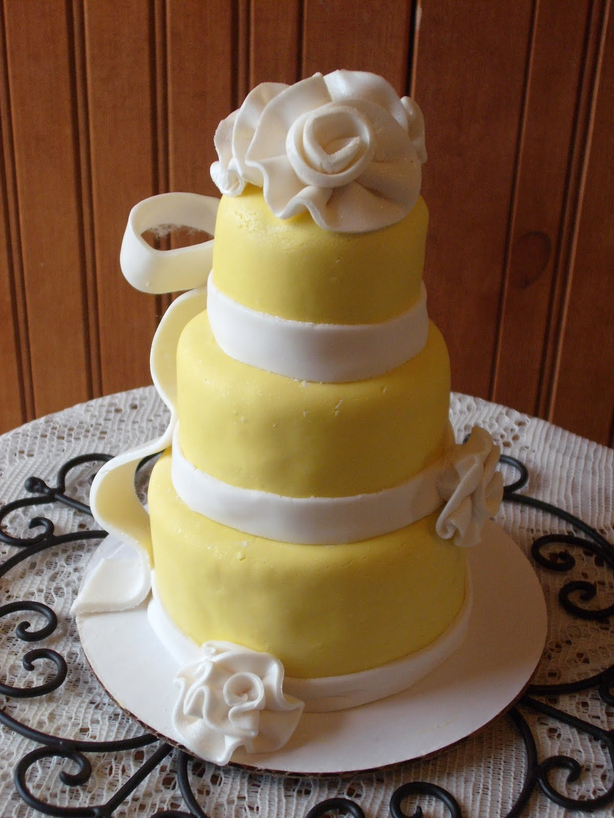 Bianca\'s blog: Mini wedding cake for special