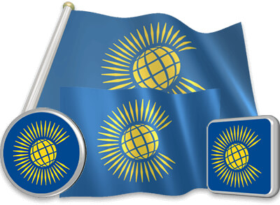 Commonwealth of Nations flag animated gif collection