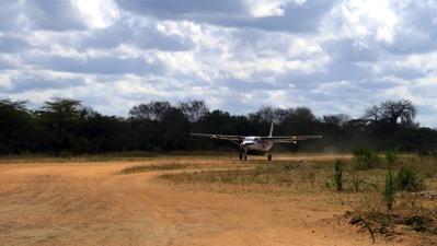 Arriving plane