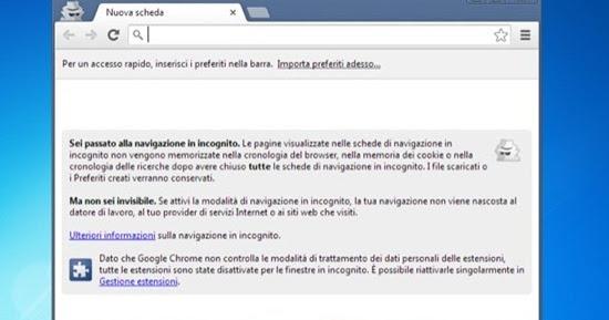 Naviga sul web in privato archivio blogger - Finestra in incognito ...
