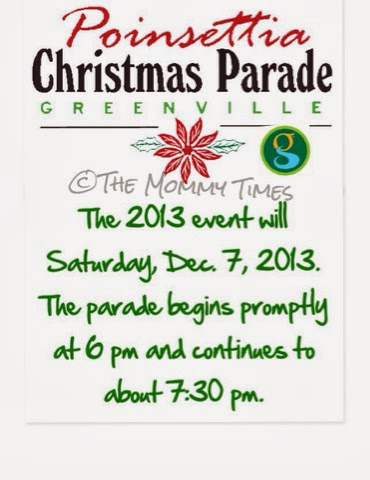 Greenville, SC Poinsettia Christmas Parade - The Mommy Times