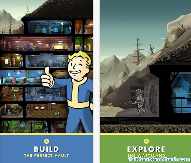 Tính năng xây dựng và khám phá trong game Fallout Shelter