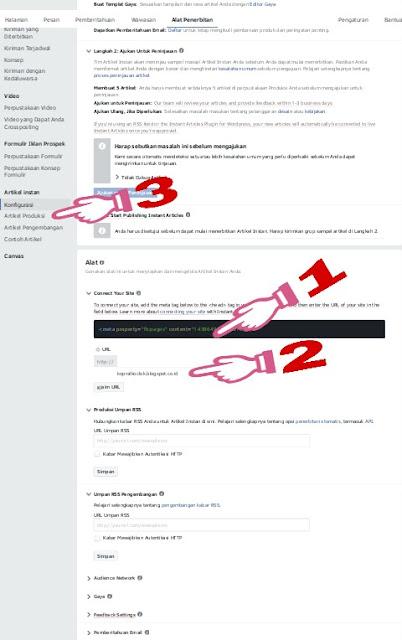 cara membuat instan artikel facebook