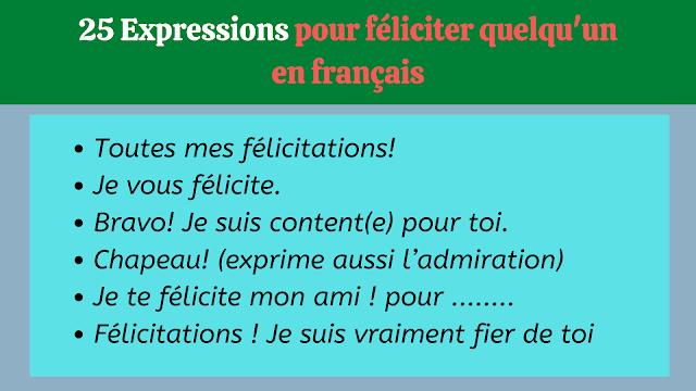 25 Expressions pour féliciter quelqu'un en français